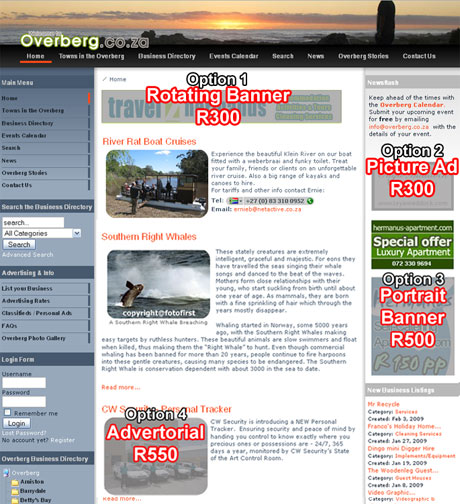 Homepage Advertising